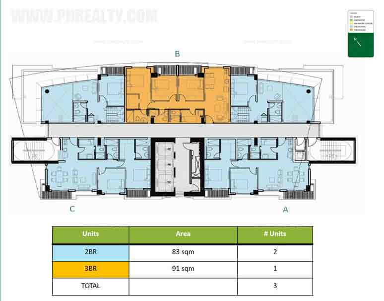 Level 23 Upper Penthouse Floor Plan