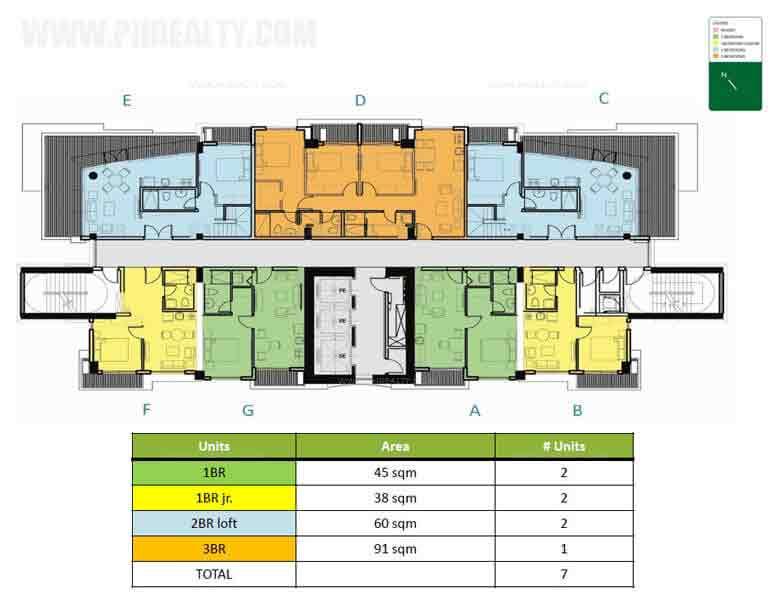 Level 22 Lower Penthouse Floor Plan