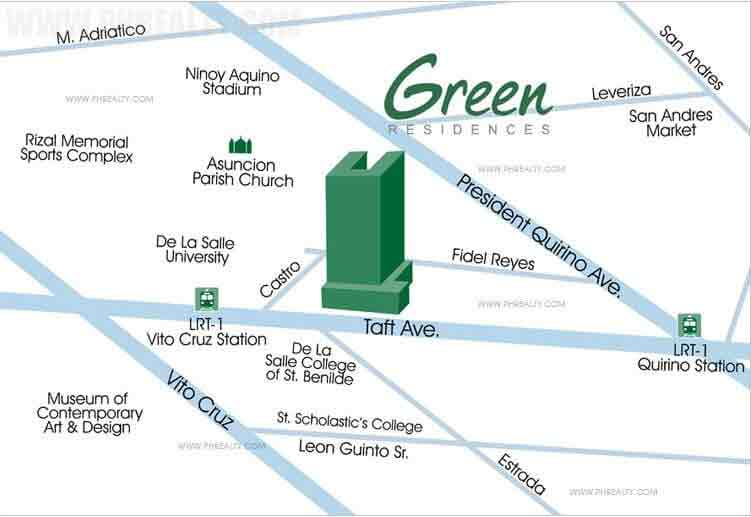 Green Residences Location