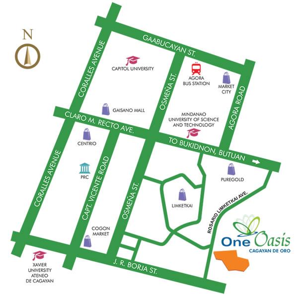 One Oasis Cagayan De Oro Location