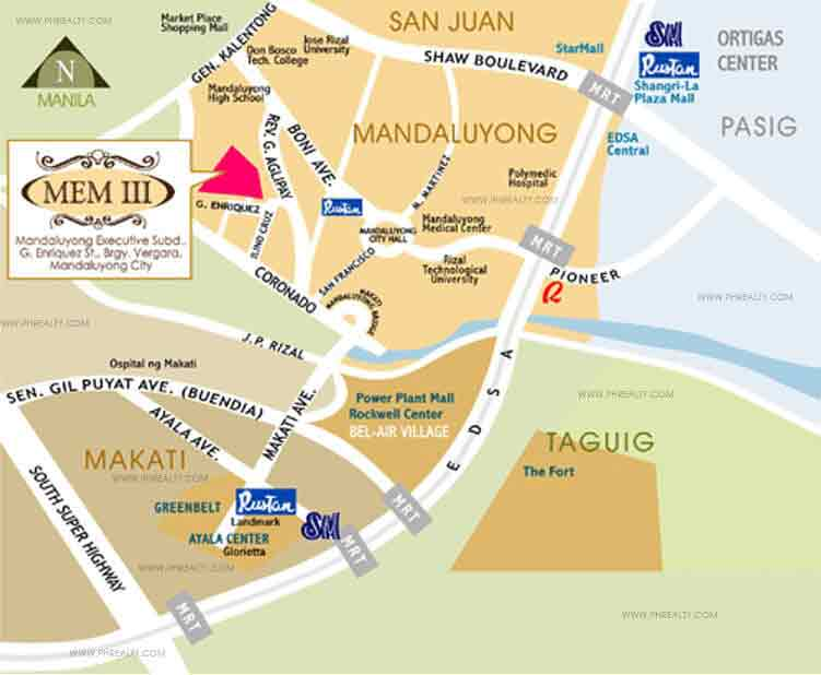 Mandaluyong Executive Mansion III Location