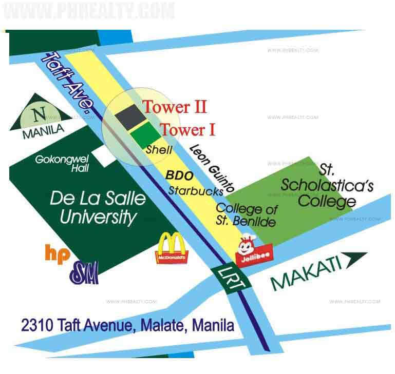 location address of cityland the manila residences tower ii 2310