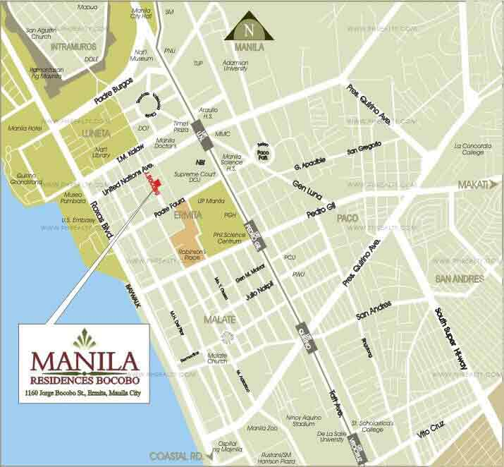 Manila Residences Bocobo Cityland Condo For Sale In Ermita - Us embassy manila map