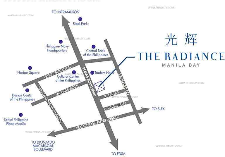 location address of robinsons radiance manila bay roxas