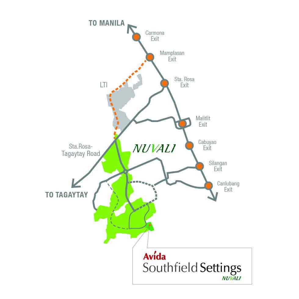 Avida Southfield Settings NUVALI Location