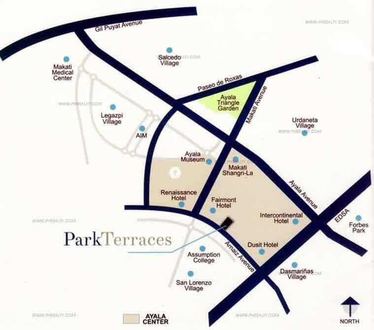 Park Terraces Location
