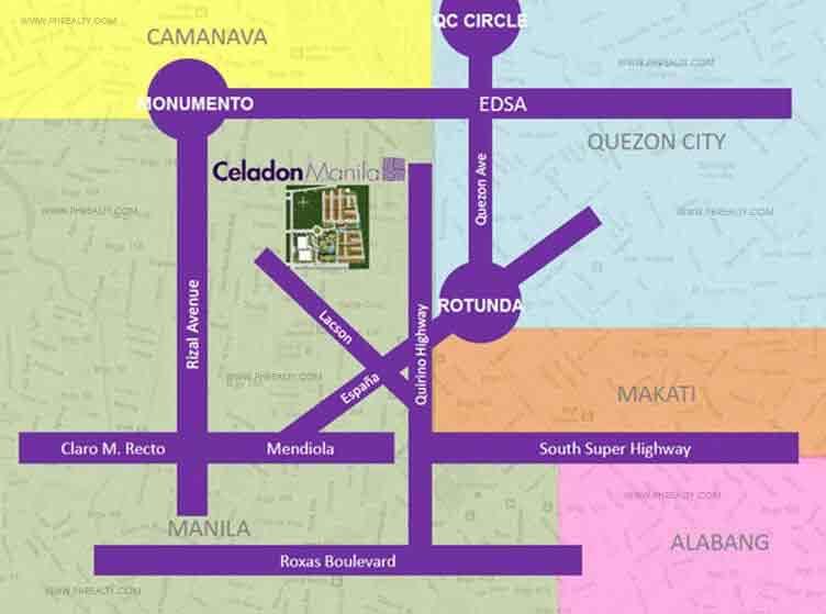 Celadon Park Location