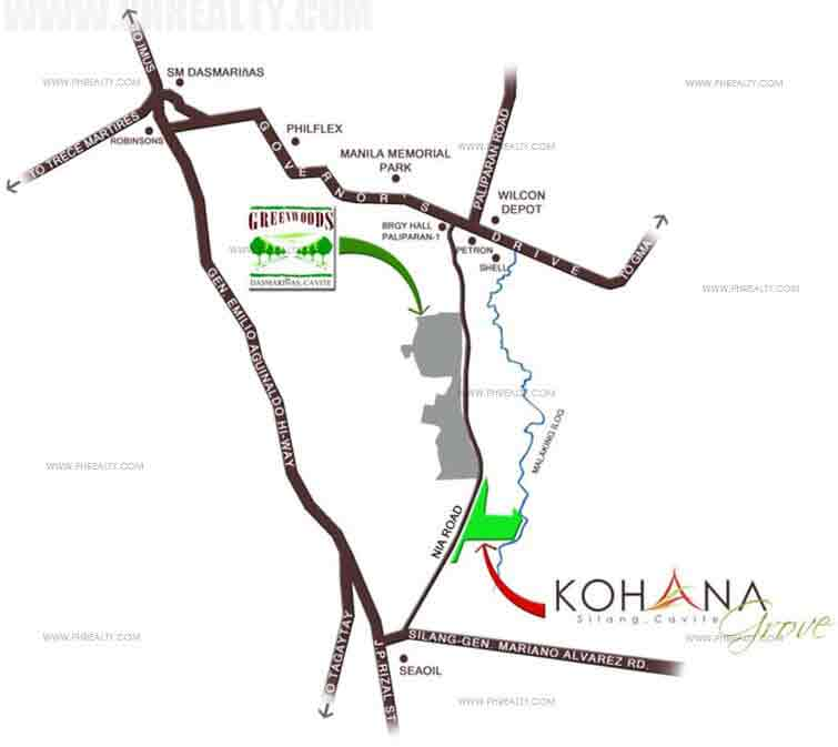 Kohana Grove Location