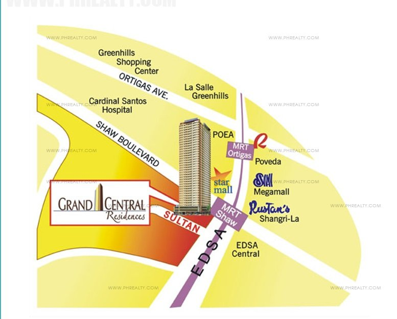 Grand Central Residences Location