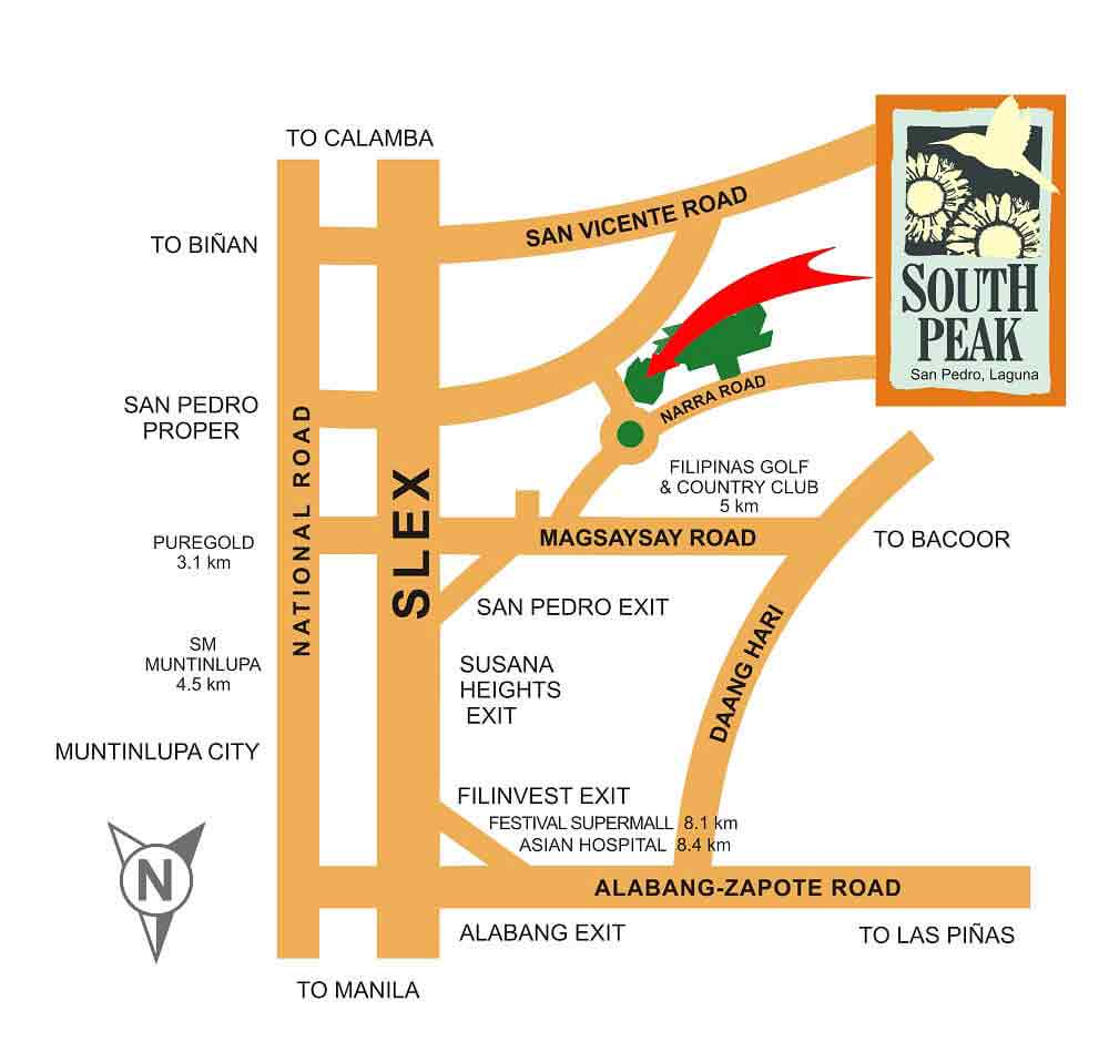 Southpeak Filinvest Location