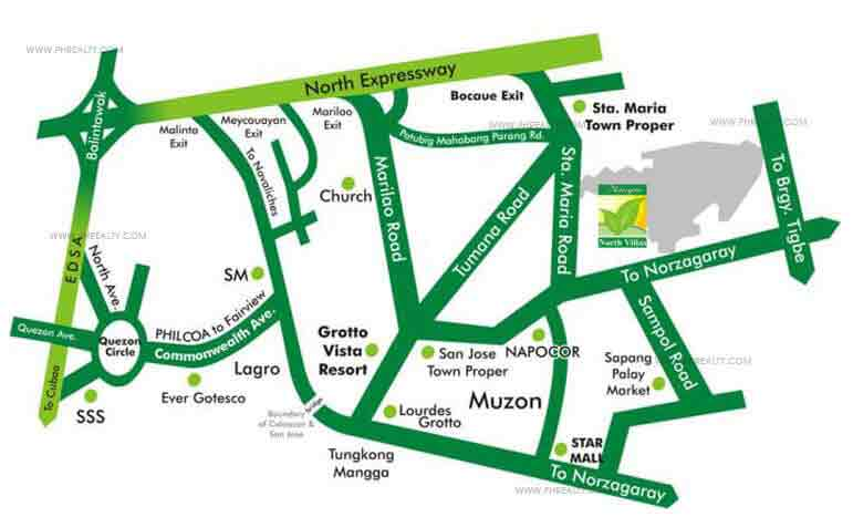 Metrogate North Villas Location