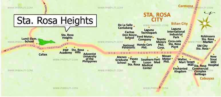 Sta. Rosa Heights Location