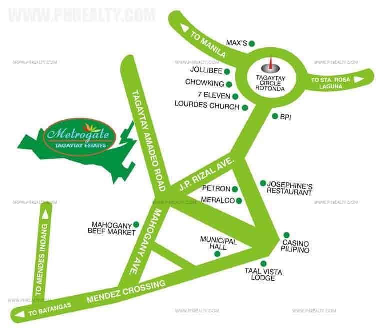 Metrogate Tagaytay Estates Location