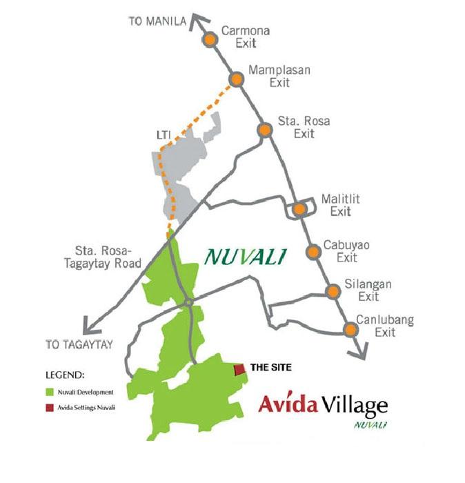 Avida Village Cerise Location