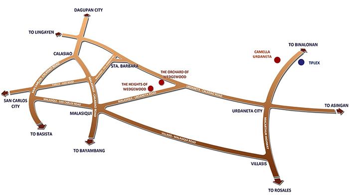 Camella Urdaneta Location