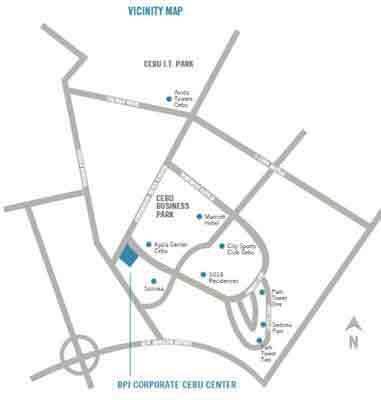 BPI Cebu Corporate Center Location