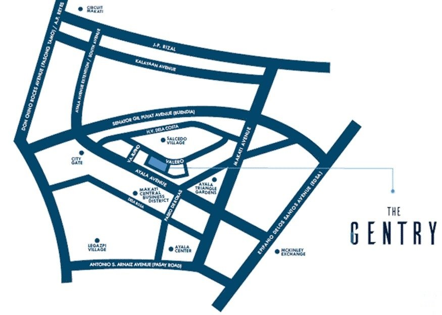 The Gentry Residences Location