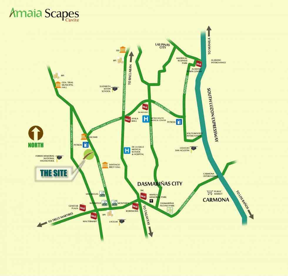 Amaia Scapes Cavite Location