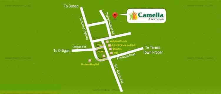 Camella Crestwood Location