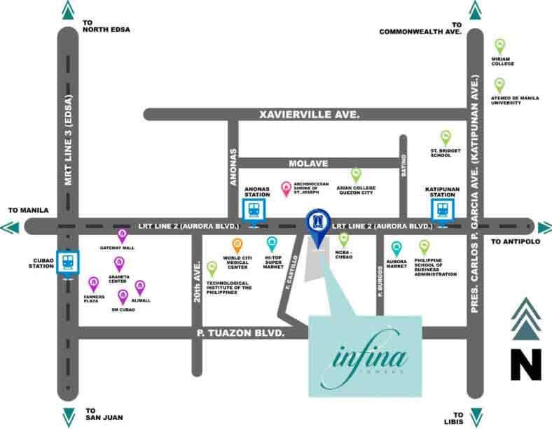Infina Towers Location