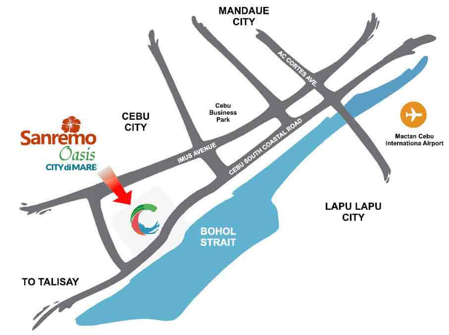 Sanremo Oasis Cebu Location