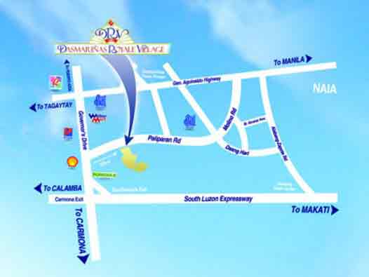Dasmarinas Royale Village Location
