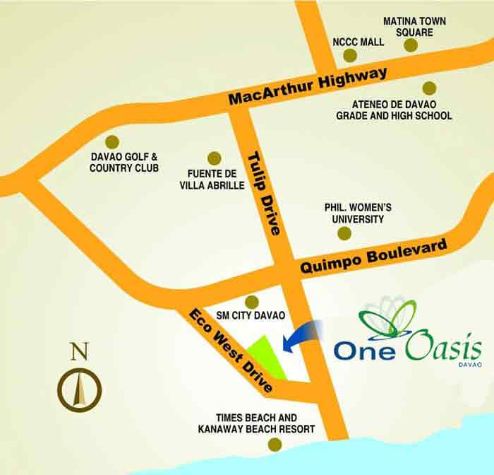 One Oasis Davao Location