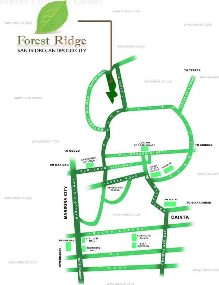 Forest Ridge House Lot For Sale in Antipolo City Price