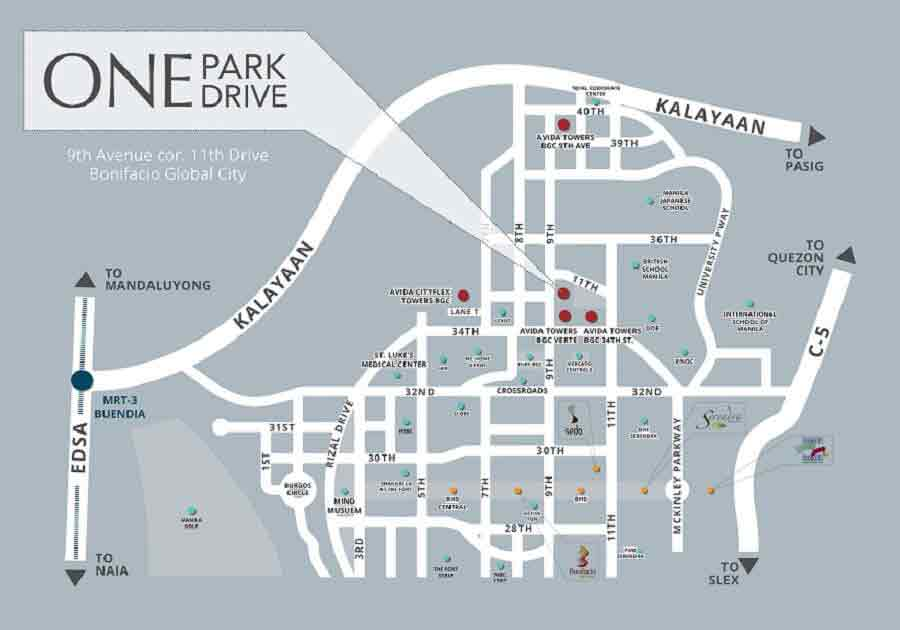 One Park Drive Location