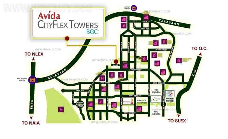 Avida CityFlex Towers BGC Location
