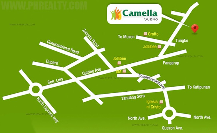 Camella Sueno Location