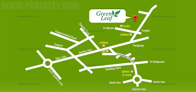 Camella Greenleaf Location