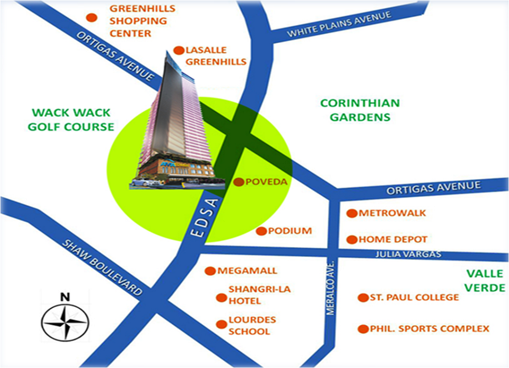 AMA Tower Residences Location