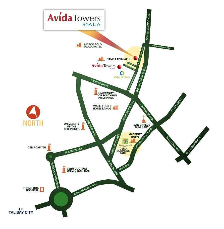 Avida Towers Riala Location