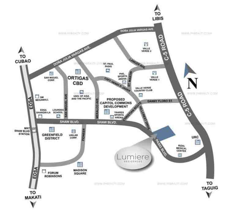 Lumiere Residences Location