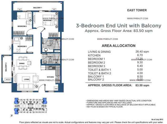 End Unit 3 Bedroom