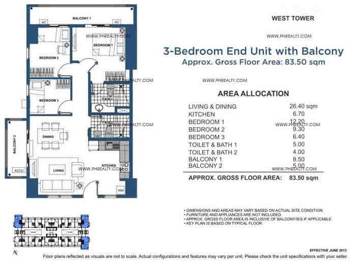 Unit 3 Bedroom With Balcony