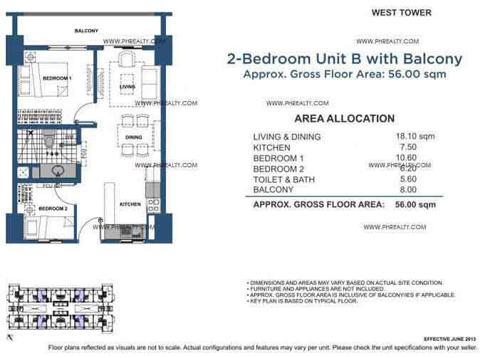 Unit B 2 Bedroom