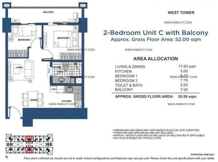Unit C 2 Bedroom