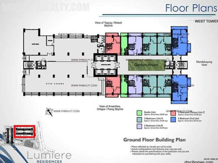 West Tower Ground Floor Building Plan