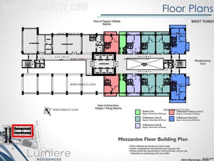 West Tower Mezzanine Floor Building Plan