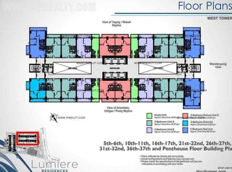 West Tower Lumiere Residences Condo In Pasig City