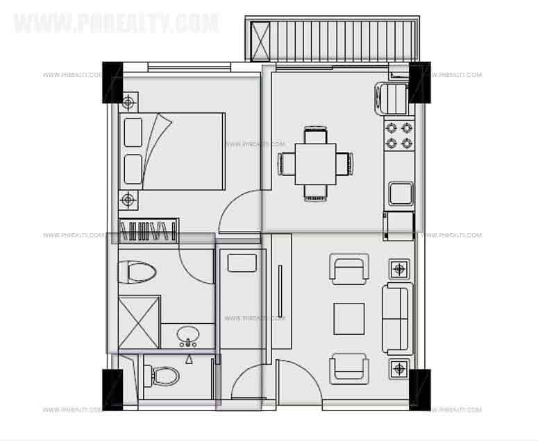 One Bedroom Plan A