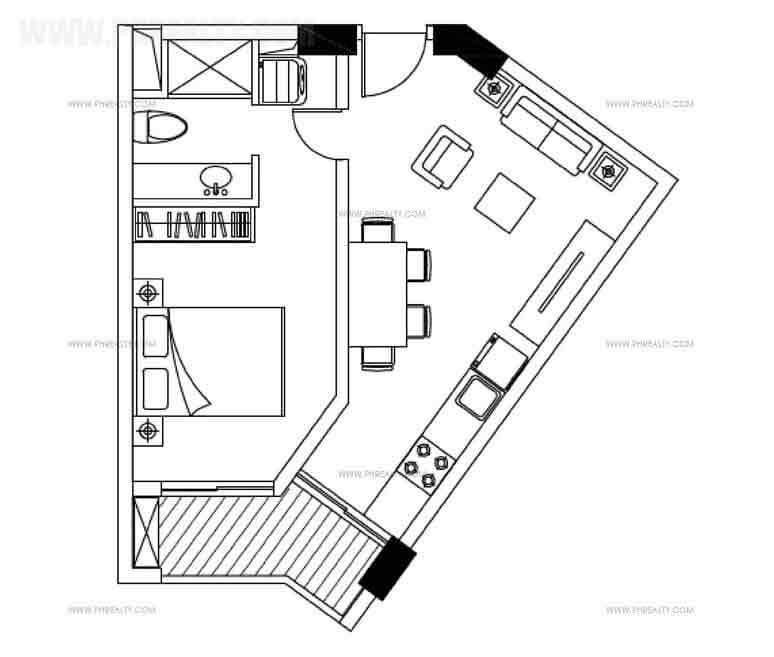 One Bedroom Plan B & C
