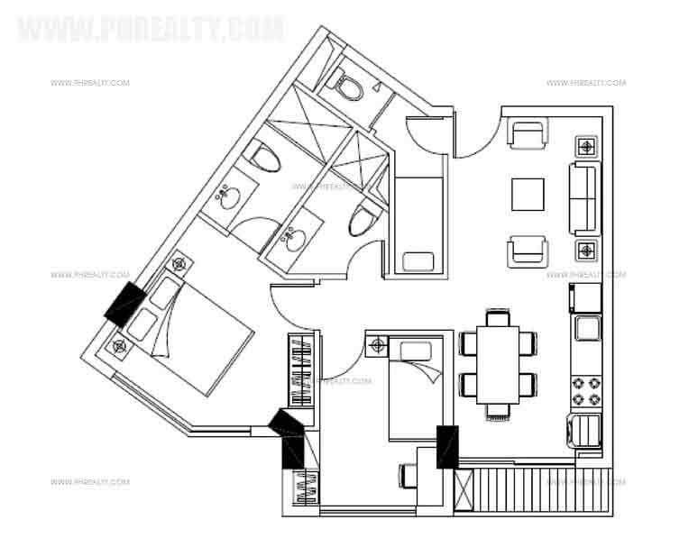 Two Bedroom Plan Plan B & C