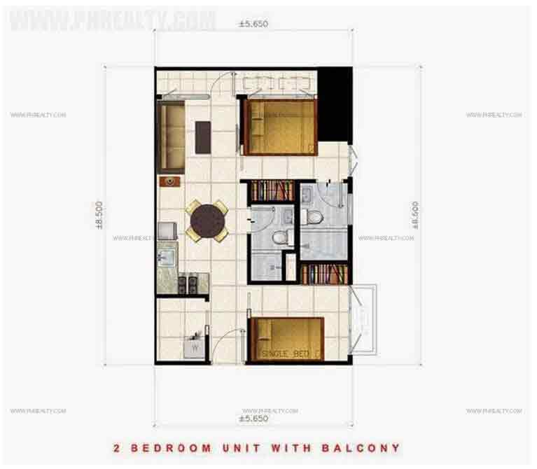 2 Bedroom Unit with Balcony