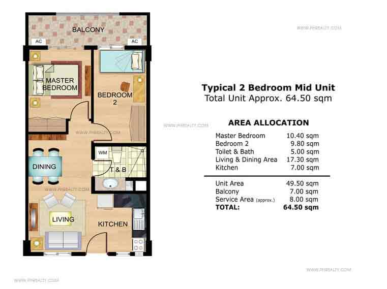 Mallow 2 Bedroom Mid Unit