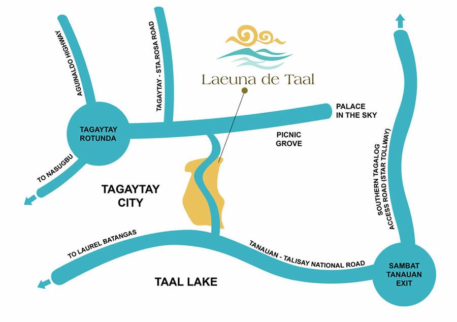 Laeuna de Taal Location