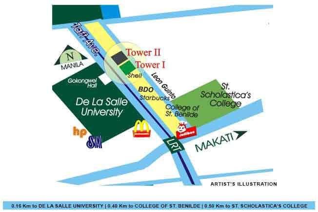 The Manila Residences Tower I Location