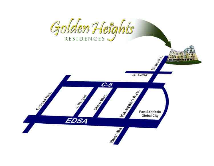 Golden Heights Residences Location